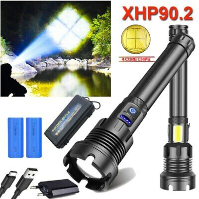 Super Bright Outdoor Inspection Torch COB Flashlight USB Rechargeable Torch AL