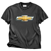 Chevy Bowtie Logo Mens Charcoal Tee Shirt