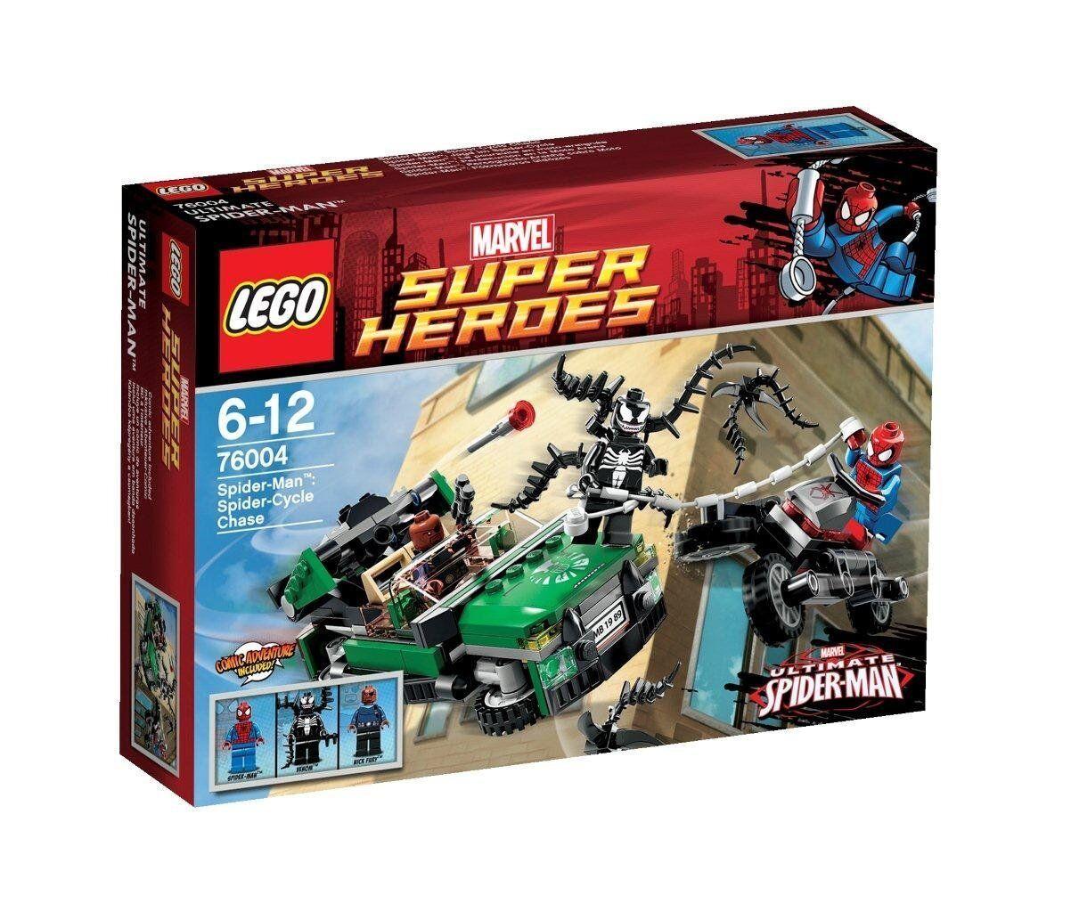 LEGO Super Heroes - Marvel - 76004  - La Moto-Araignée - Spider-Man - Venom  vente discount