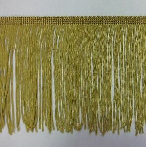"6/"" old gold chainette  Fringe Lampshade Costume Trim by the Yard,dance dress"