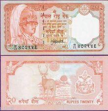 NEPAL 20 RUPEES DEER NOTE UNC
