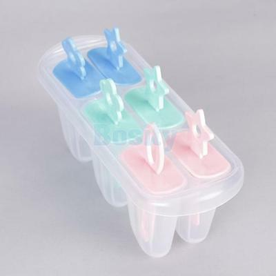 Set of 6 Ice Popsicle Maker Ice Cream Mold Freeze Pops for Party Food DIY HOT