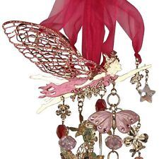 NEW KIRKS FOLLY ASTRAL FAIRY GATHERINGS WINDCHIME  GOLDTONE/ PINK