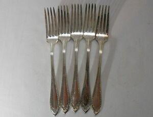 Oneida Silverplate Sheraton Set of 5 Dinner Forks