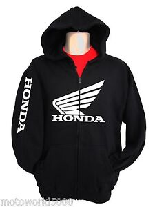 Honda Racing Sweatshirt Hoody Zipper Zip-up HRC CR CBR 250 450 600RR motorcycle