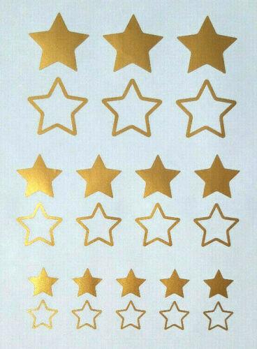 Gold Helm 24 Sterne Aufkleber//Sticker  Auto,Fahrrad,Motorrad,E-Bike Farbe