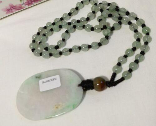 Certified Grade A green Jadeite jade pendant S50X35cm+free Jade Necklace L60cm