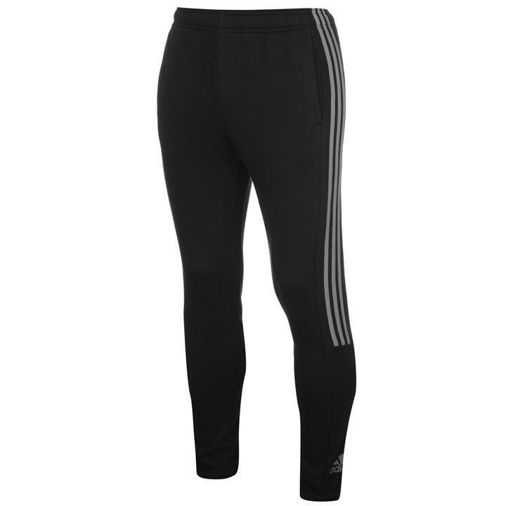 adidas Logo-Fleece-Hose mit drei Streifen Herren XL (44/46) REF C3223 *