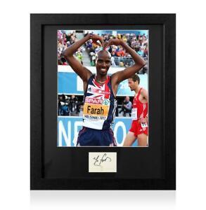 Sir Mo Farah Signed 2012 London Olympics Card and Photo Frame: Option 3