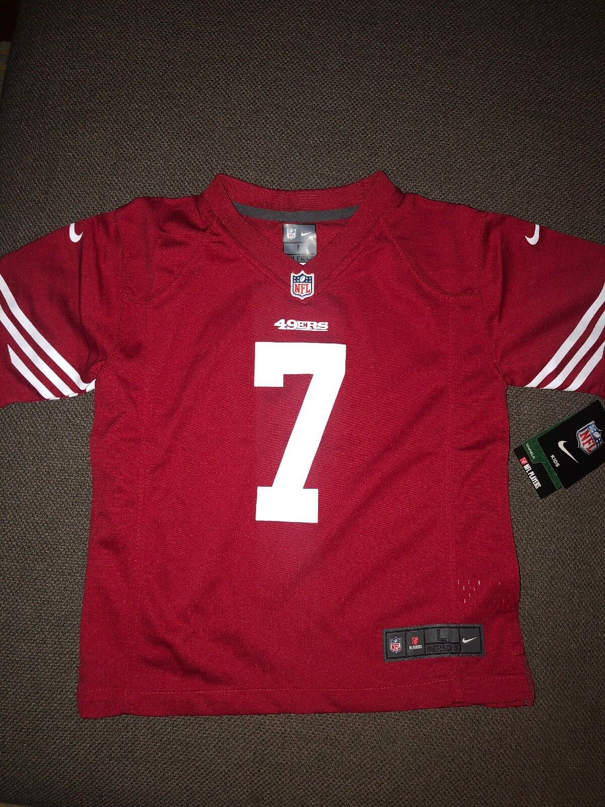 new product 5bc34 a40c7 Z1b3n9p9 Kids Nike NFL San Francisco 49ers Colin Kaepernick Jersey Sz L Red