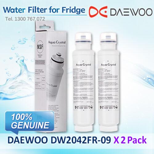 2 x GENUINE  Aqua Crystal Daewoo Fridge Filter DW2042FR-09-3019986700