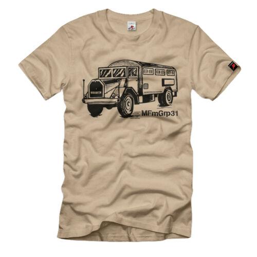 MFmGrp31 Nieby Marinefernmeldegruppe militärischer LKW T-Shirt #35480