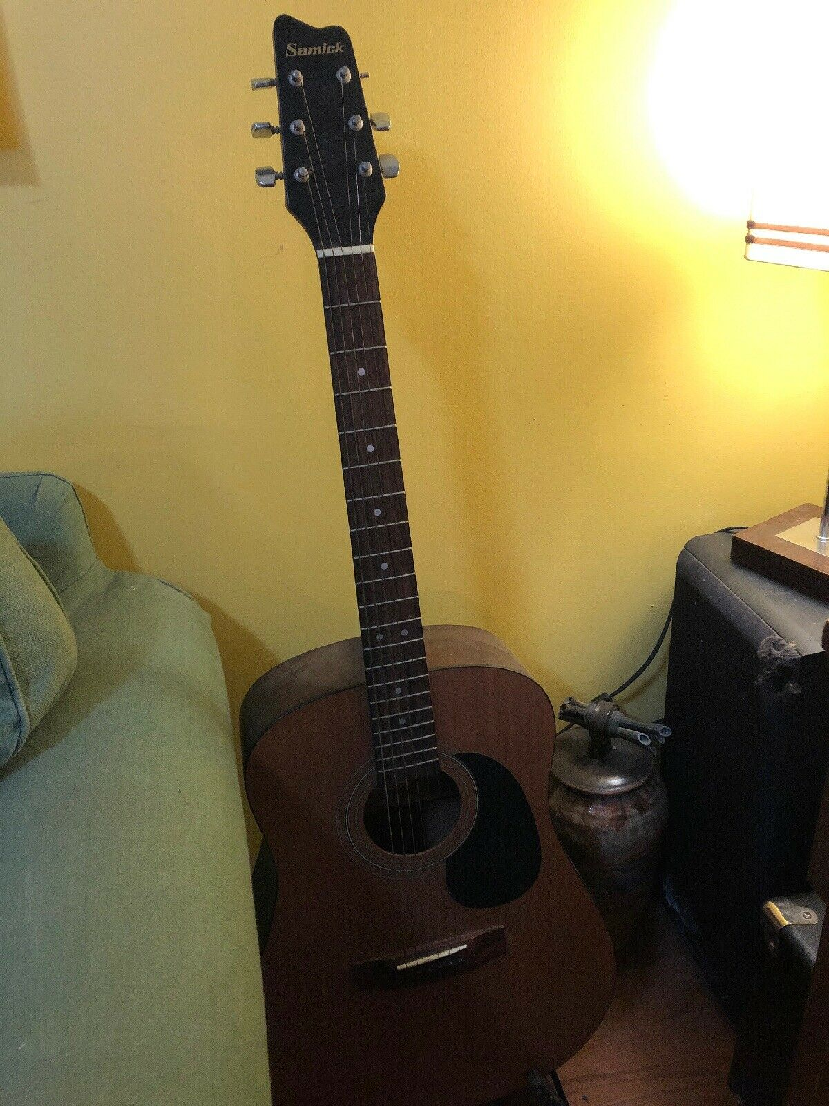 Samick Acoustic Guitar Cw 015 5day Nr Auction For Sale Online Ebay