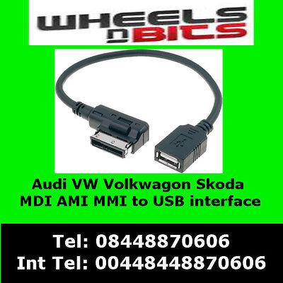 Audi Music Interface AMI MMI ADI to USB flash drive MP3 Music Cable