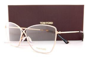 5c14b2cbd6 New Tom Ford Eyeglass Frames FT 5518 V 028 Gold For Women 57mm ...