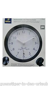 TCM Tchibo Uhr Wanduhr mit Saugnapf Badezimmeruhr Baduhr Badwanduhr ...