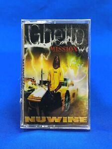 [NEW] Nuwine – Ghetto Mission | Cassette Tape Album 1999 Holyfield Hip Hop RARE