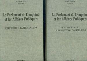 Le-Parlement-de-Dauphine-et-les-Affaires-Publiques-1750-1790-par-J-Egret-2-tomes