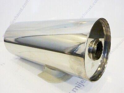 """Universal Exhaust Silencer 5/"""" x 2.5/"""" x 24/"""" Resonator Muffler Stainless Steel Box"""