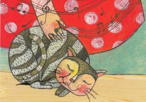 Schnurrkatze Selda Marlin Soganci Kunstpostkarte