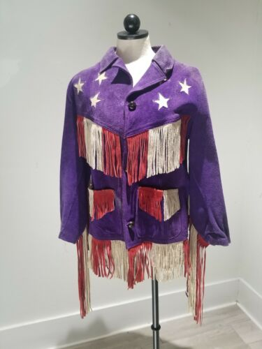 VTG 1960s Jimi HENDRIX style Fringe Leather Jacket