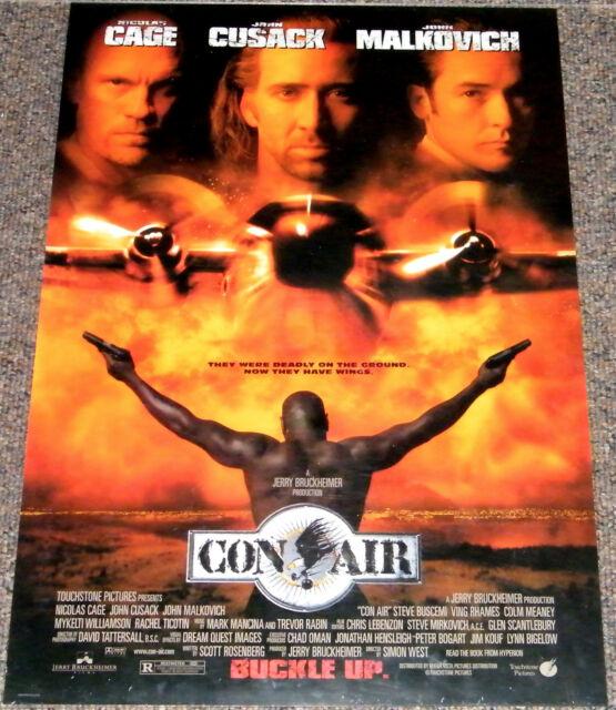 Con Air 1997 Original 18 X 27 Movie Poster Nicolas Cage Action Crime Adventure For Sale Online Ebay