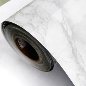 Grey Marble Contact Paper Wallpaper Self Adhesive Peel Stick Wall