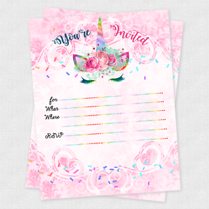 Greeting Cards Party Supply Home Garden Unicorn Birthday