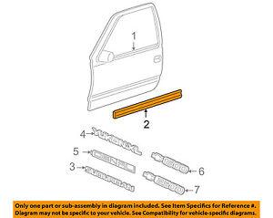 Genuine GM 20816962 Door Molding Front Lower