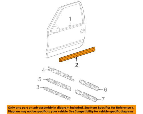 GMC GM OEM 00-06 Yukon FRONT DOOR-Body Side Molding Left 15176374