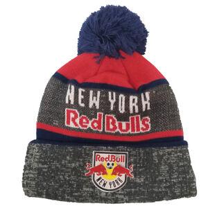 4435aeac2f0 AUTHENTIC MITCHELL   NESS Stripe TPU Pom Knit NEW YORK RED BULLS