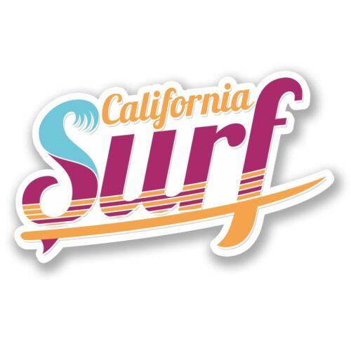 2 x California Surf USA Vinyl Sticker Laptop Travel Luggage Car #6009