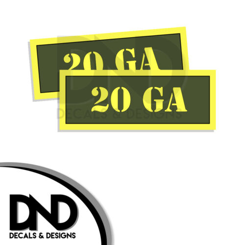 2 Pack 20 Ga Ammo Can Decal Gun Ammunition Box Firearm Gloss Sticker AG