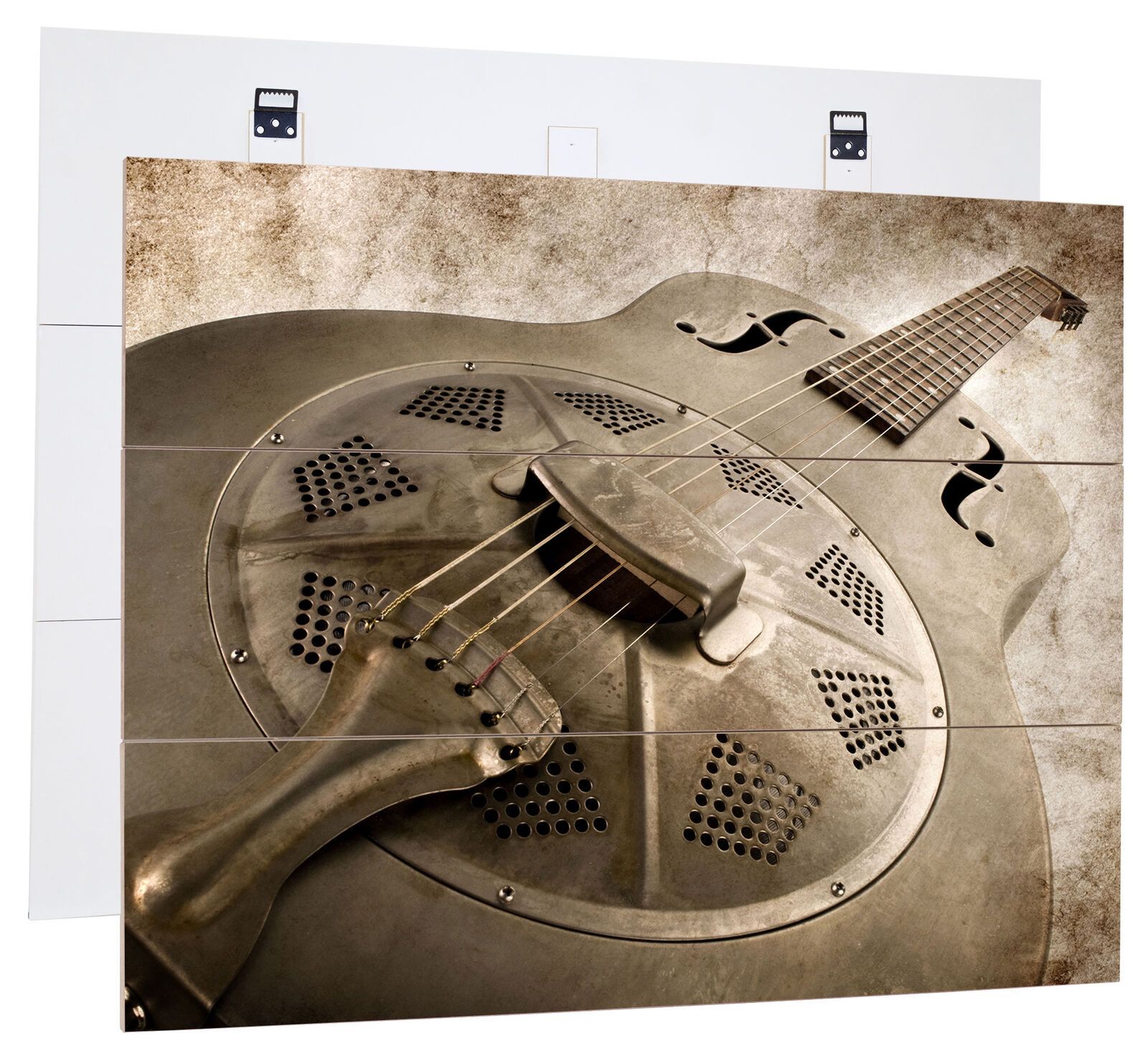Beautiful old guitar-MDF bois Picture in boisen Look Wall Decoration