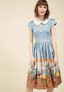 ModCloth-50s-Style-Cowgirl-Print-Dress-Retro-Rockabilly-Western-Americana-NWT