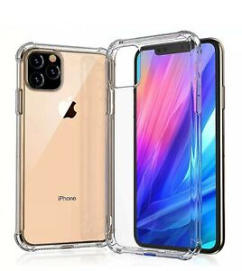 For iPhone 11 Pro Max XR Xs Max Case Clear Hard Soft Silicone Shockproof Cover