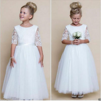 2016 Flower Girl Dresses Wedding Bridesmaid Birthday Party Formal Recital Gown