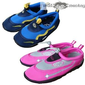 dce8c2b51b274f TWF WEEVER BEACH SHOES - boys girls blue pink junior kids beach aqua ...