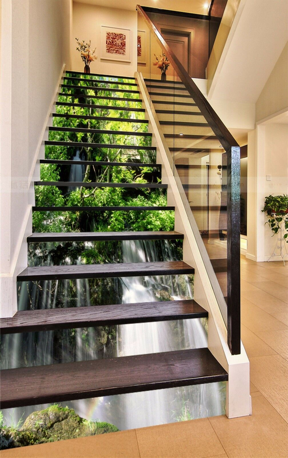 3D Nature Forest 746Stair Risers Decoration Photo Mural Vinyl Decal Wallpaper AU
