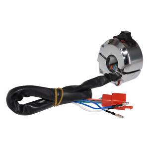 7//8Motorrad Linker Schalter Lenker Control Horn Blinker Licht Hi//Lo Beam Schwarz Motorrad Linker Schalter