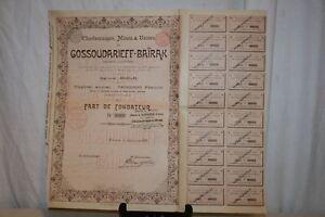 Ancienne Action Gossoudarieff-baÏrak De 1899. Tvzpmqhr-07221404-321647400