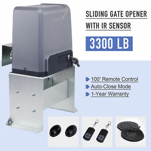 Sliding Gate Opener for Gates Up to 3300Lbs with Remote Controls Sliding Gate Opener Driveway Motor Electric Operator