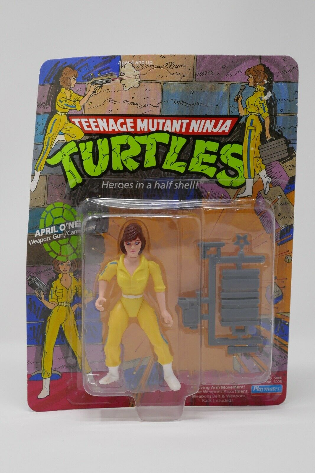 Playmates  1988 Teenage Mutant Ninja Turtles TMNT April O'Neil azione cifra  spedizione veloce a te