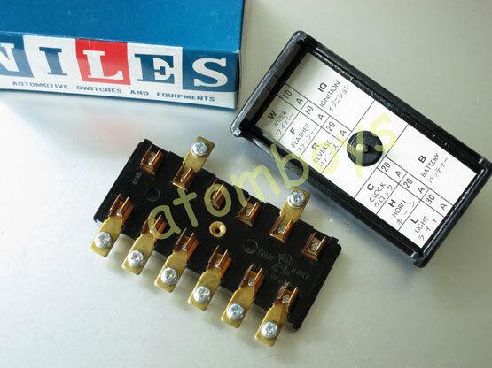 DATSUN SUNNY 1000 1200 B10 B120 B110 KB110 520 521 FUSES BOX NILES GENUINE OEM