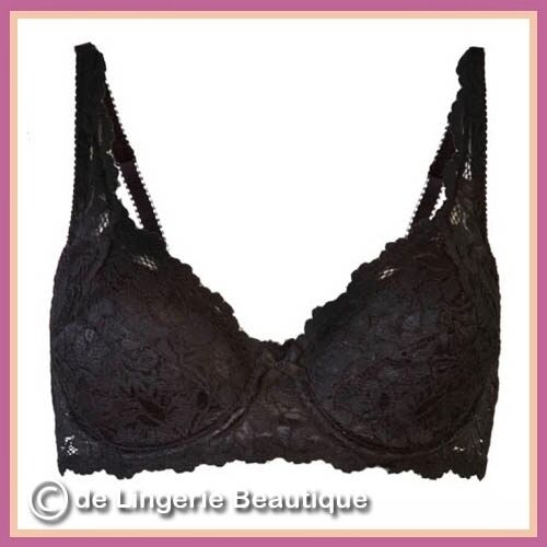 *Emily* Underwired BLACK or WHITE Lace Padded Bra Size 34B 42E  by Daniel Axel