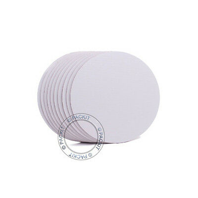 "10 x Cake Boards Round White 8"" Decoration Displays Wedding, Birthday"
