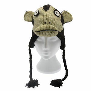 adb91737c98 Image is loading Fun-Japanese-Monkey-Handmade-Winter-Woollen-Animal-Hat-