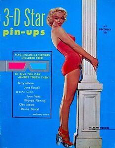 Marilyn-Monroe-Magazine-1953-3D-Star-Pinups-Debut-Issue-V1N1-3D-Viewer-EX-VTG