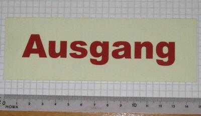Offen Auswahl Nachleuchtende Aufkleber Afterglowing Sticker Not Ausgang Emergency Exit Lange Lebensdauer