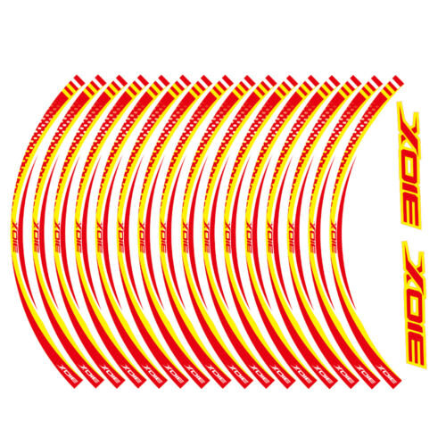 2D Printing Wheel Rim Inner Stripe Emblem Stickers Decals Set for ZONTES 310X